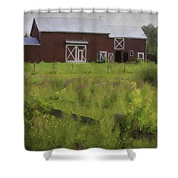 Hudson Valley Barn Shower Curtain