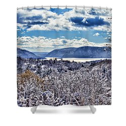 Hudson Valley First Snow Mystic Colors Shower Curtain