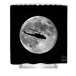 Huey Moon Shower Curtain