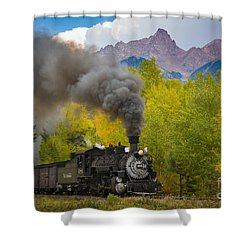 Huffing And Puffing Shower Curtain by Inge Johnsson