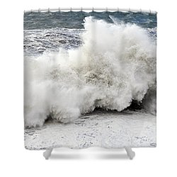 Huge Wave Shower Curtain by Antonio Scarpi