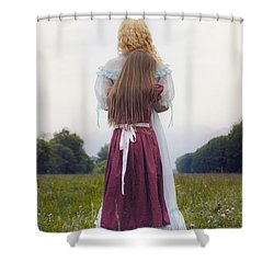 Hugging Shower Curtain by Joana Kruse