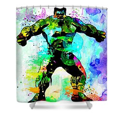 Hulk Watercolor Shower Curtain