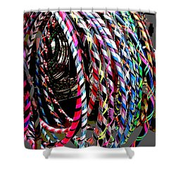 Huly Hoops Shower Curtain by The Art of Alice Terrill
