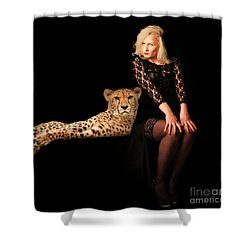 Shower Curtain featuring the photograph Human And Animal by Christine Sponchia