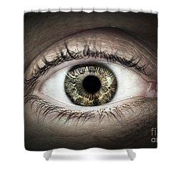 Human Eye Macro Shower Curtain by Elena Elisseeva