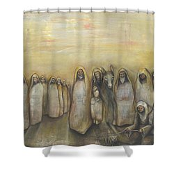 'humble Procession Of The King' Shower Curtain