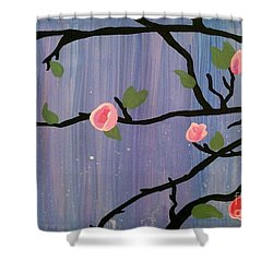 Shower Curtain featuring the painting Humble Splash by Marisela Mungia