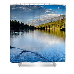 Hume Lake Evening Shower Curtain
