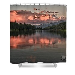 Hume Lake Sunset Shower Curtain