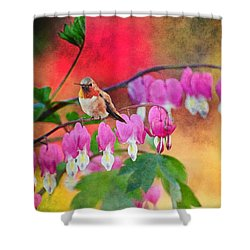 Hummer With Heart Shower Curtain by Lynn Bauer