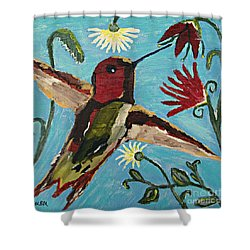 Hummingbird No. 2 Shower Curtain