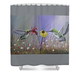 Hummingbird Pair Shower Curtain