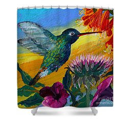 Hummingbird Shower Curtain by Robin Maria Pedrero