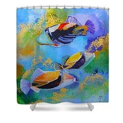 Humuhumu Shower Curtain