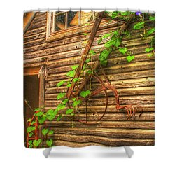 Hung To Rest Shower Curtain by Randy Pollard