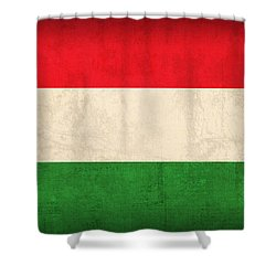 Hungary Flag Vintage Distressed Finish Shower Curtain by Design Turnpike