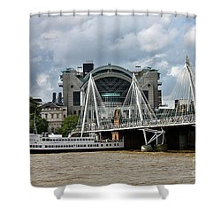 Hungerford Bridge And Charing Cross Shower Curtain