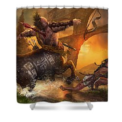 Hunt The Hunter Shower Curtain by Ryan Barger