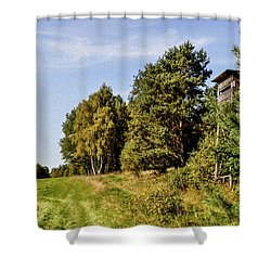 Hunter Lookout Shower Curtain by Aged Pixel
