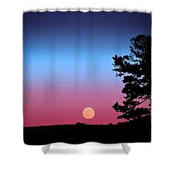 Shower Curtain featuring the photograph Hunter's Moonrise In Eastern Arizona by John Haldane