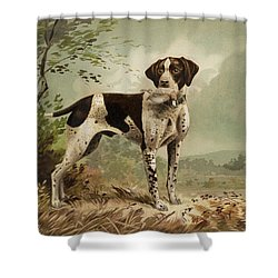 Hunting Dog Circa 1879 Shower Curtain by Aged Pixel