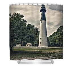 Hunting Island Lighthouse Shower Curtain by Linda Blair