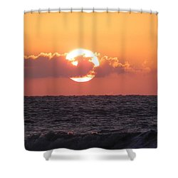 Hunting Island Sunrise Shower Curtain
