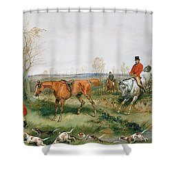 Hunting Scene Shower Curtain by Henry Thomas Alken