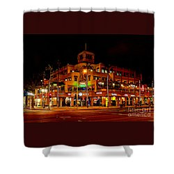 Huntington Beach Downtown Nightside 1 Shower Curtain by Jim Carrell
