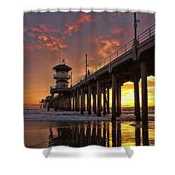 Huntington Beach Pier Shower Curtain