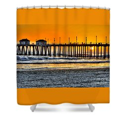Huntington Beach Sunset Shower Curtain