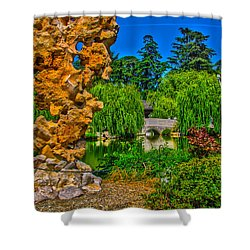 Huntington Gardens Ca Shower Curtain by Richard J Cassato