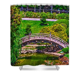 Huntington Library Ca Shower Curtain by Richard J Cassato