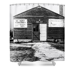 Hurricane Hunters Outbuilding In Alaska Shower Curtain by Vizual Studio