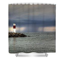 Hurricane Irene Shower Curtain by Tim Buisman