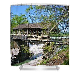 Shower Curtain featuring the photograph Hurricane Irenes Destruction by Sherman Perry