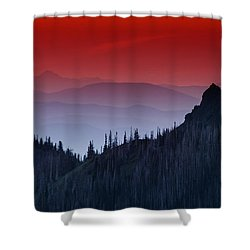 Hurricane Ridge Sunset Vista Shower Curtain by Mark Kiver
