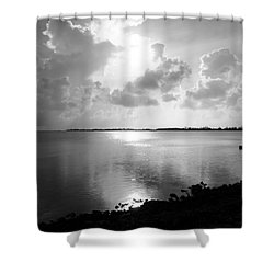 Hurry Sundown Shower Curtain by Amar Sheow