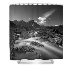 Hush Shower Curtain by Ed Boudreau