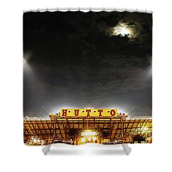Hutto Hippo Stadium Shower Curtain by Trish Mistric