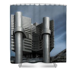 Hvb Building Shower Curtain by Hannes Cmarits