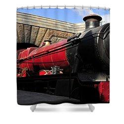 Hogwarts Express Train Work A Shower Curtain by David Lee Thompson
