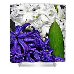 Hyacinths Shower Curtain by Sarah Loft