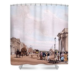 Hyde Park Corner, Looking Shower Curtain by Thomas Shotter Boys