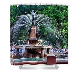 Hyde Park Fountain Shower Curtain by Kaye Menner