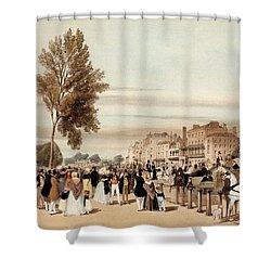 Hyde Park, Towards The Grosvenor Gate Shower Curtain by Thomas Shotter Boys