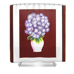 Shower Curtain featuring the painting Hydrangea by Ron Davidson