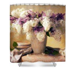 Hydrangea Summer Display Shower Curtain