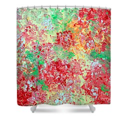 Shower Curtain featuring the painting Hydrangeas II by Alys Caviness-Gober